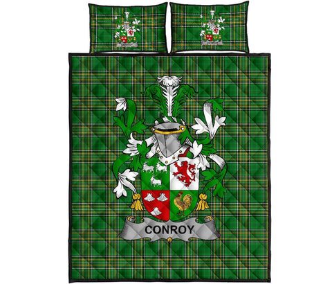 Conroy or O'Conry Ireland Quilt Bed Set Irish National Tartan | Over 1400 Crests | Home Set | Bedding Set