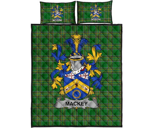 Mackey Ireland Quilt Bed Set Irish National Tartan | Over 1400 Crests | Home Set | Bedding Set