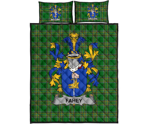 Fahey or O'Fahy Ireland Quilt Bed Set Irish National Tartan | Over 1400 Crests | Home Set | Bedding Set