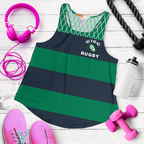 Rugby Womens Racerback Tank - Croker Green and Navy Traditional - Green - Front - For Women