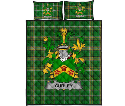 Curley or McTurley Ireland Quilt Bed Set Irish National Tartan | Over 1400 Crests | Home Set | Bedding Set