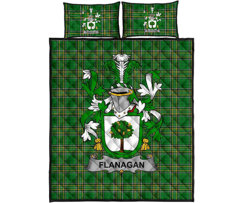 Image of Flanagan or O'Flanagan Ireland Quilt Bed Set Irish National Tartan | Over 1400 Crests | Home Set | Bedding Set