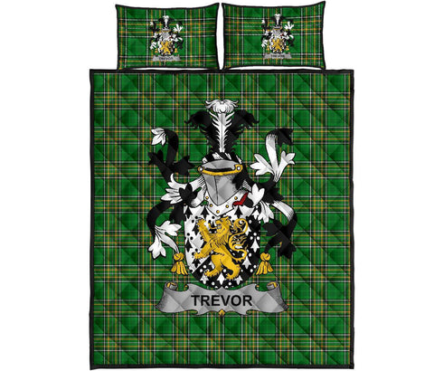 Trevor Ireland Quilt Bed Set Irish National Tartan | Over 1400 Crests | Home Set | Bedding Set