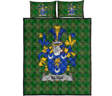 Bligh Ireland Quilt Bed Set Irish National Tartan | Over 1400 Crests | Home Set | Bedding Set