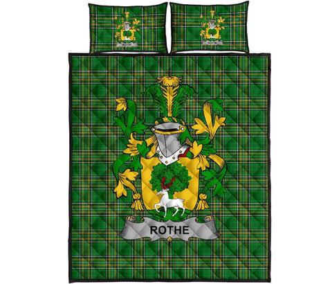 Rothe Ireland Quilt Bed Set Irish National Tartan | Over 1400 Crests | Home Set | Bedding Set