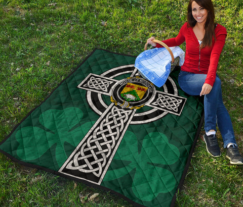 Irish Quilt, McDonagh or McDonogh Family Crest Premium Quilt TH47