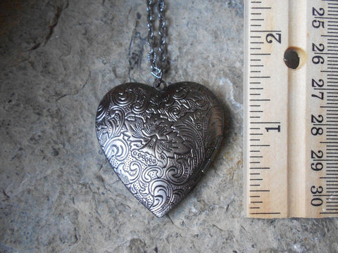 Bronze & Silver Irish Shamrock Heart Lockets - Great Quality - Four Leaf Clover - St. Patrick's Day - Photos, Stash, Keepsakes, Unique TH7