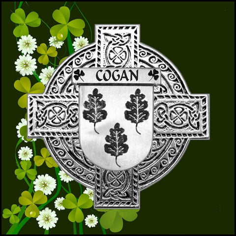 Irish Cogan Family Crest Coat Of Arms Quare Decanter