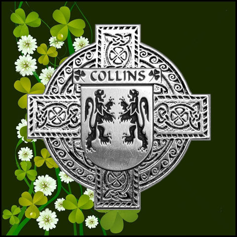 Irish Collins Family Crest Coat Of Arms Quare Decanter