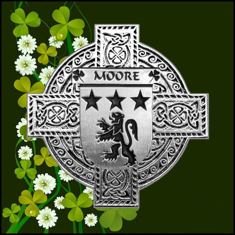 Irish Moore Family Crest Coat Of Arms Quare Decanter