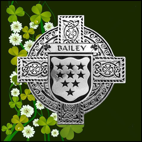 Irish Bailey Family Crest Coat Of Arms Quare Decanter