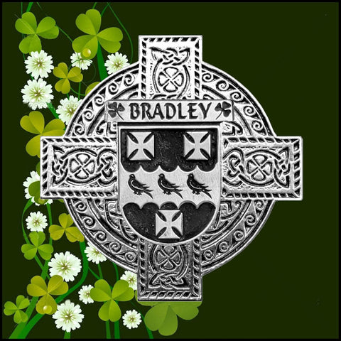 Irish Bradley Family Crest Coat Of Arms Quare Decanter