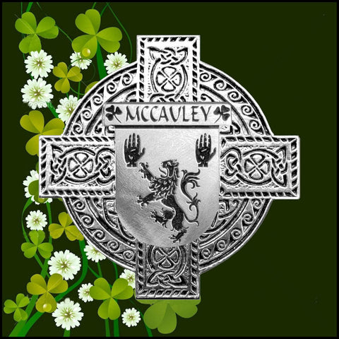 Irish McAuley Family Crest Coat Of Arms Quare Decanter