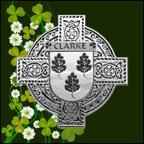 Irish Clarke Family Crest Coat Of Arms Quare Decanter