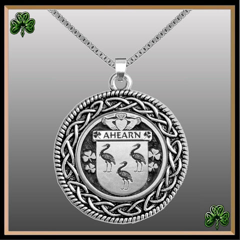 (Personalized) Irish Pendant, Family Crest Coat Of Arms Celtic Disk Pendant TH8