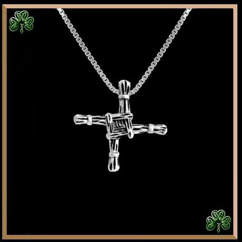 St. Brigid Celtic Cross Pendant, Irish Small, Sterling Silver