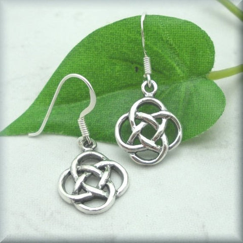 Celtic Eternal Knot Earrings, Irish Jewelry, Sterling Silver, Irish Earrings, Celtic Knot Jewelry, Celtic Knot Earrings TH7