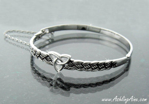 Celtic Trinity knot Bangle Bracelet, Irish Jewelry, Irish Bracelet, Bracelet, Jewelry TH5