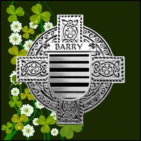 Irish Barry Family Crest Coat Of Arms Quare Decanter