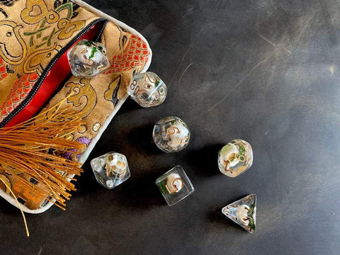 Image of Skull D&D Dice Set (Set Of 7)