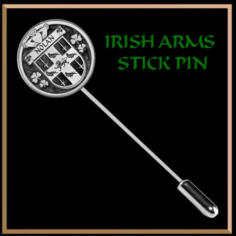 Image of (Personalized), Irish Family Coat of Arms Stick Pin TH5