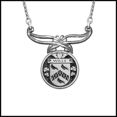 (Personalized), Wills Clan Crest Rennie Mackintosh Style Pendant CLPRM TH5