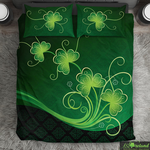 Image of Irish Shamrock Bedding Set, St. Patrick's Day Duvet Cover And Pillow Case K4