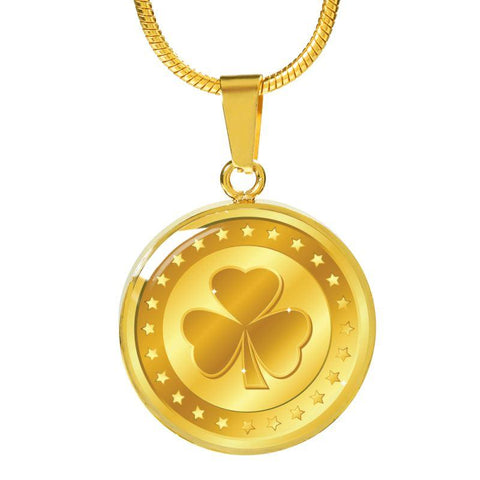 Image of Ireland Gold Shamrock Jewelry H4 Luxury Necklace (Gold) Jewelries