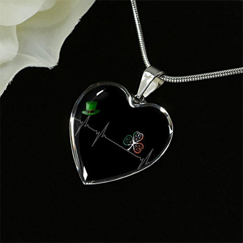 Image of Ireland Heartbeat Silver Heart Jewelry C1 Jewelries