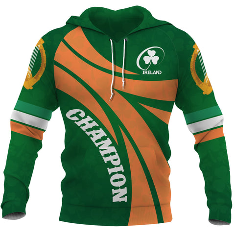 Ireland Champion Rugby Hoodie front