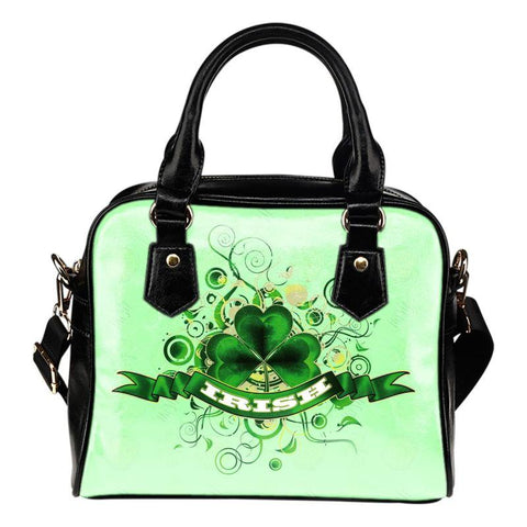 Irish Shamrock Shoulder Handbag H4 Handbags