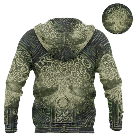 Irish Celtic Tree of Life Hoodie Art - Back for Men and Women