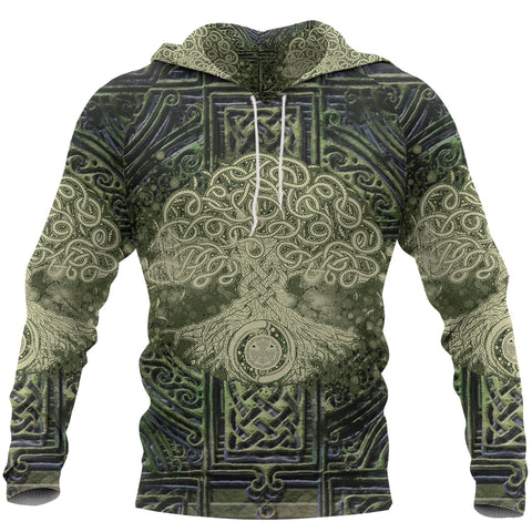 Irish Celtic Tree of Life Hoodie Art - Front for Men and Women