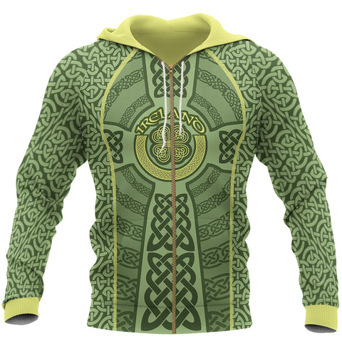 Irish Celtic Zip Hoodie - Front for Men and Women