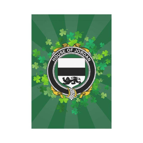 Image of Irish Garden Flag, O'Gallagher Family Crest Shamrock Yard Flag A9