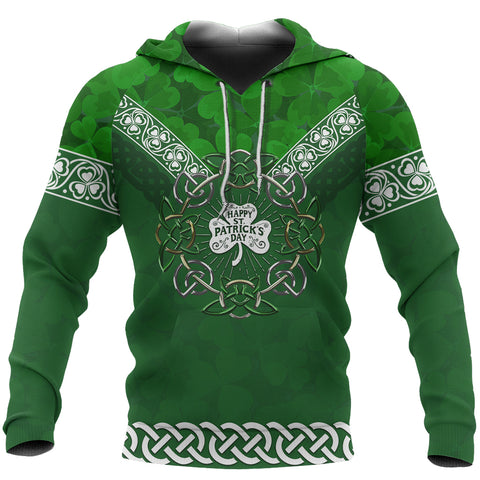 St, Patricks's Day Hoodie Ireland Celtic All Over Hoodie Shamrock TH45