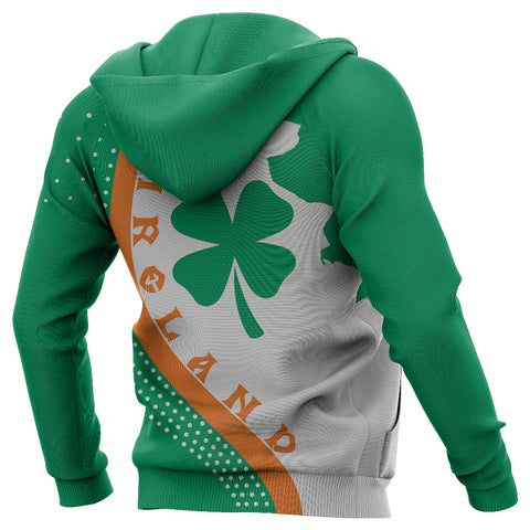 Irish Lucky Clover Zip-up Hoodie Generation II K60