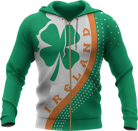 Irish Shamrock Zip-up Hoodie Generation II