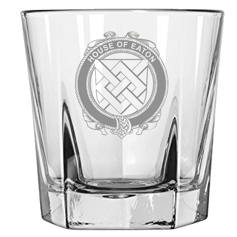 Irish Rock Glass, Eaton Family Crest Wine Glass