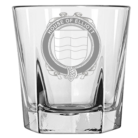 Irish Rock Glass, Elliott Family Crest Wine Glass