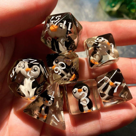 Lucky Penguin D20 Dice