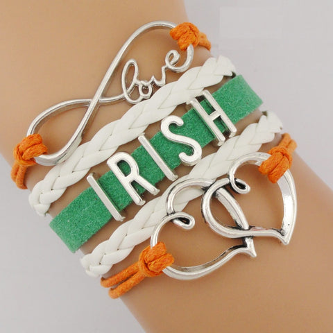 Image of My Infinite Love for Ireland Custom Bracelet