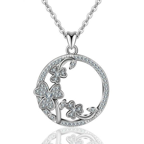 Image of Shamrock Sterling Sliver Necklace (Limited Edition)