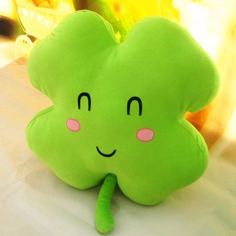 Image of Super Soft Shamrock and Clover Cushion/Pillow