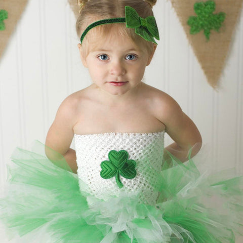 Shamrock Tutu Dress, St Patricks Day Outfit, 1St Birthday Dress, First Birthday, Kids Tutu Dress, Baby Girl Birthday, Toddler Tutu Dress Th7