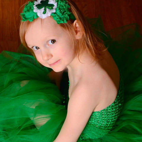 Solid Emerald Green Tutu Holiday Dress - Flower Girl - Pageant Gown - St Patricks Day Color - Girls Size 12 Months 2T 3T 4T 5 6 7 8 10 12 Th7