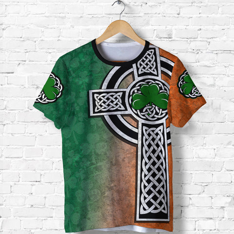 Irish Celtic Cross Shamrock T Shirt - Celtic Nations