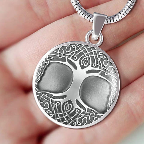 Silver Celtic Tree Of Life Circle ( Necklace And Bangle) A3 Jewelries