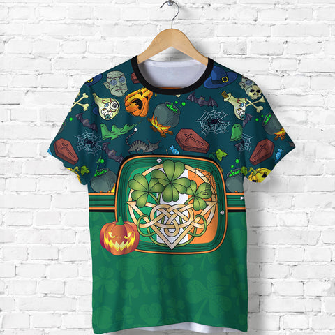 Ireland Halloween T Shirt Celtic Shamrock front