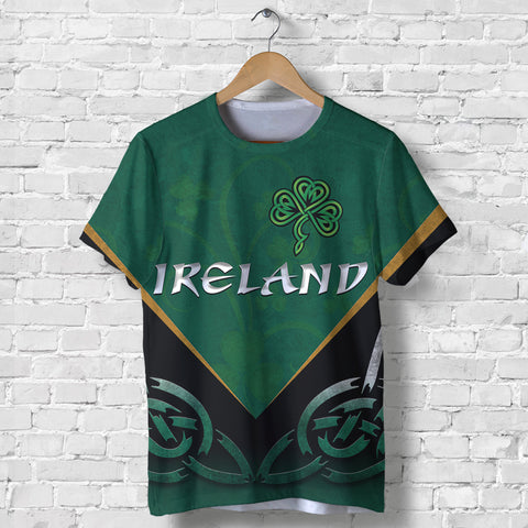 Image of Irish Shamrock T Shirt, Trinity Knot T Shirt K4